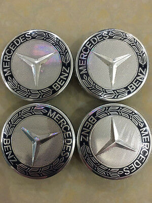 4PCS 75MM Car WHEEL CENTRE HUB CAPS Cover Badge Emblem For Mercedes Benz A