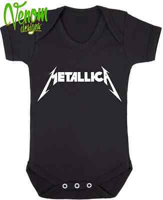 Metallica BABY BODYSUIT GROW VEST GIRL BOY CLOTHES GIFT Christmas fun rock band