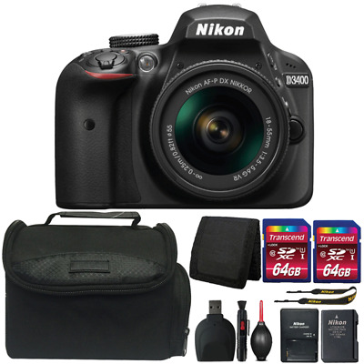 Nikon D3400 24.2MP DSLR Camera with 18-55mm Lens and Ultimate Accessory Bundle
