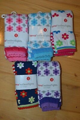 Hanna Andersson footless capri Tights 150 New nwt purple pink blue floral red