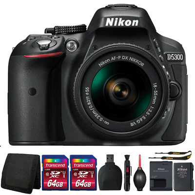 Nikon D5300 DSLR Camera with 18-55mm Lens and Top Accessory Kit