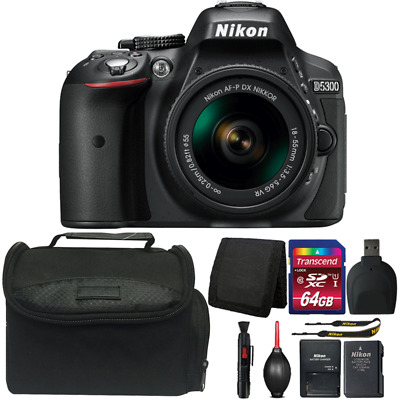 Nikon D5300 24.2MP DSLR Camera with 18-55mm Lens and Top Accessory Kit