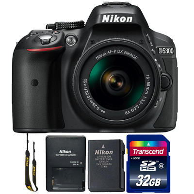 Nikon D5300 24.2MP DSLR Camera with 18-55mm Lens and 32GB Memory Card