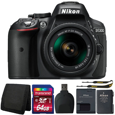 Nikon D5300 24.2MP DSLR Camera with 18-55mm Lens and Accessories