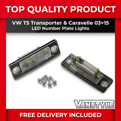 Vw Volkswagen Transporter T5 T5.1 2003-15 Number Plate Lights Led Bulb Upgrade