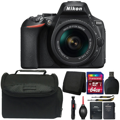 Nikon D5600 24.2MP DSLR Camera with 18-55mm Lens and Top Accessory Kit