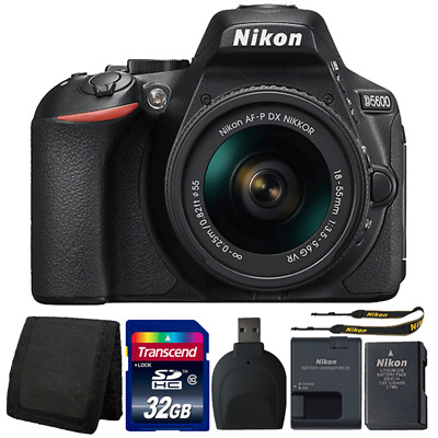 Nikon D5600 24.2MP DSLR Camera with 18-55mm Lens and Accessory Bundle