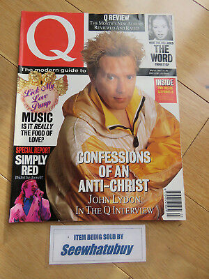Vintage Q Music Magazine - March 1992 - John Lydon / Simply Red /
