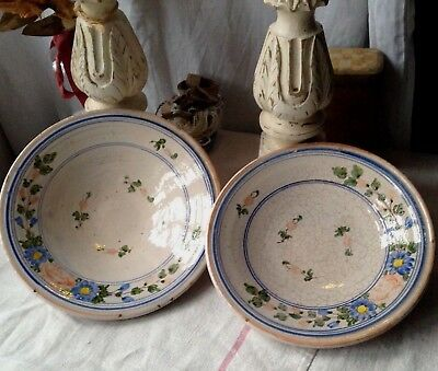 Antique Faience Plate, Wall Plate 19C French Pottery Collectible Antiques /1pc