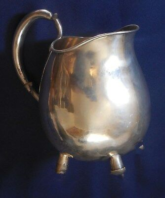 ARTISAN Signed STERLING Hand Made Vintage PITCHER Estate PLEASE HELP IDENTIFY