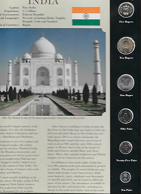 Coins from Around the World India 1988 - 2002  BU UNC 10 Paise 1988C KM 40.2