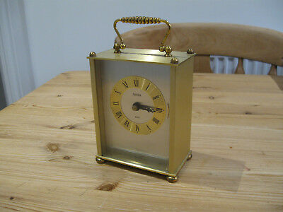 Brass Cased Carriage Clock Mantle Clock B/O Antique Style Acctim