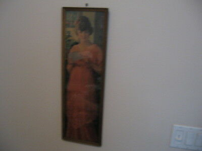Vintage 1916 Pompeian Yard Long Lady Reading Letter