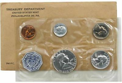1961 P Silver Proof Coin Set United States Mint