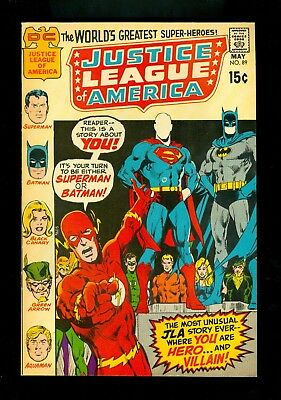 JUSTICE LEAGUE OF AMERICA #89 -- May 1971 -- NEAL ADAMS -- VF+ Or Better