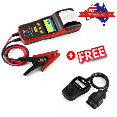 Auto Car Battery Load Tester 12V&24V Battery Analyzer Diagnostic Tool W/ Printer