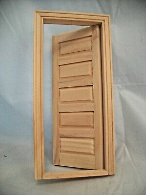 Fake Interior 6-Panel Door Fairy dollhouse false miniature 1//12 scale CLA70130