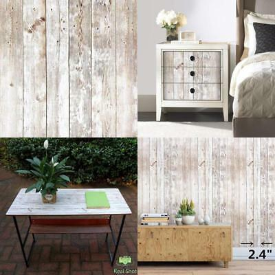 Realistic White Wood Wallpaper Contact Paper Roll Pvc Self-Adhesive Shelf Cover