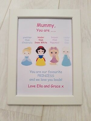 LIGHT UP PERSONALISED Birthday Box Photo Frame Princess - £19.99 ...