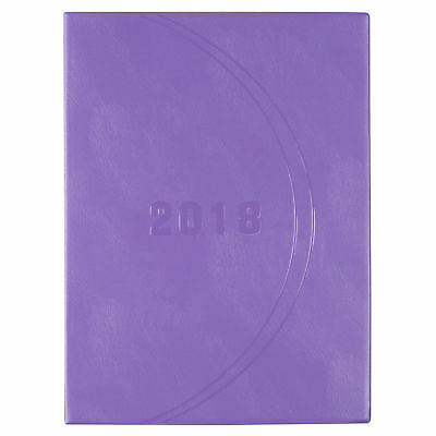 2018 Diary Cumberland Luxe Monthly Planner Diary A (290x215 mm) Purple 48PASS