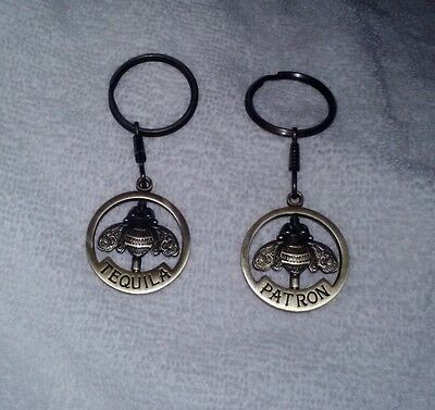 Lot of 2 Patron Tequila Bronze - Keychain – Bee -Soon- New