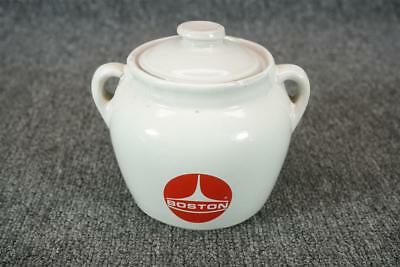 "5"" Tall Vintage Canadian Boston Jar With Lid And Two Handles"