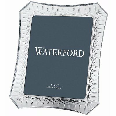 "Waterford Lismore Picture Photo Frame Lead Crystal HOLDS  8"" x 10"" PHOTO NEW"
