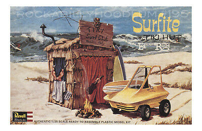 New Hot Rod Poster 11x17 Ed Roth Surfite with Tiki Hut Model Kit Art Revell