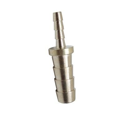 1/4 Hose ID x 1/8 Hose ID Barb Reducer Tube Splicer Joiner Union Brass Fitting