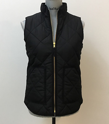 J. Crew Factory Excursion Quilted Puffer Vest  NWT Color: Black Size: XS-XXL