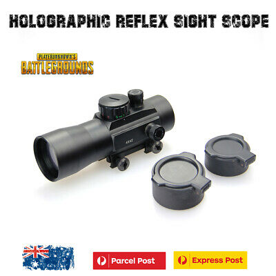 Tactical Holographic Reflex Sight Red Green Dot Rifle Scope with Flip Cover Hunt