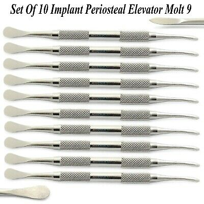 Set Of 10 Implant Periosteal Elevator Professional Surgical Implant Oral Surgery