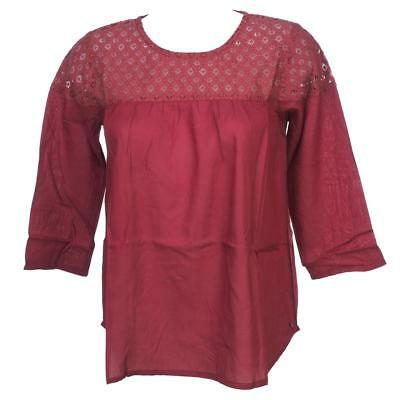 Tee shirt manches longues Teddy smith Tafy red ml tee blouse g Rouge 24346 - Neu