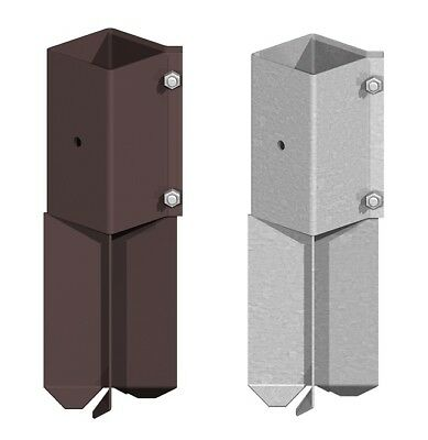 """Fencemate Swift Clamp Concrete In Spike Fence Post Holder Support 3"""" / 4"""""""