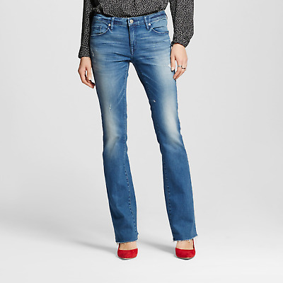 Womens Mossimo™ Mid-rise Skinny Bootcut Jeans - Medium Wash