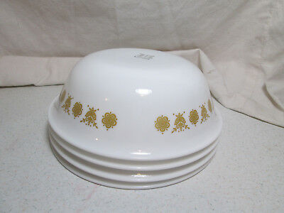 4 - Corelle Golden Butterfly Cereal Bowls