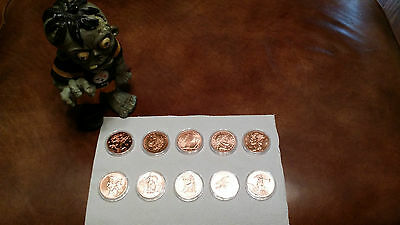 2 x Complete ZOMBUCKS Copper Coin Collection, Walker to Saint, Zombie Approved