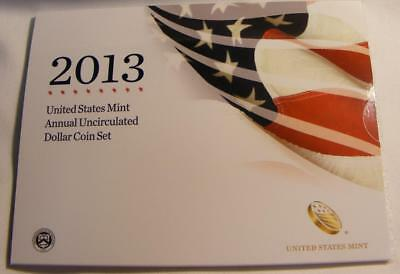 2013 United States Mint Annual Uncirculated Dollar Set W/ Burnished Silver Eagle