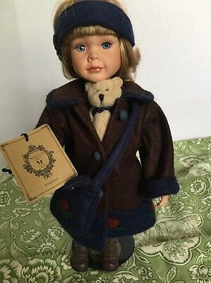 Boyds Yesterday Child Cute Heart Coat And Bag Includes Bear 2001