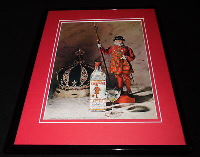 1966 Beefeater Dry Gin Framed 11x14 ORIGINAL Vintage Advertisement