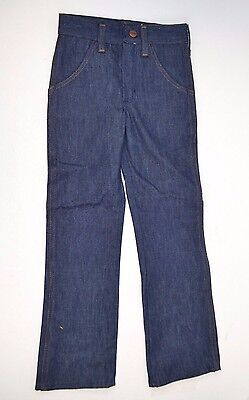 Vtg Young MAVERICK Denim BLUE JEANS Double Knees Western 6 Slim USA NOS