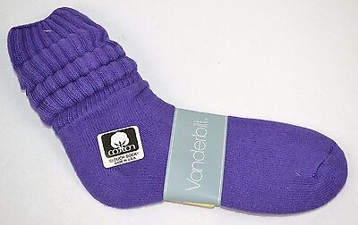 VINTAGE 1980's 1 Pair Cotton SLOUCH Baggy Socks Purple - NEW OLD STOCK
