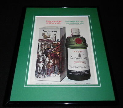 1966 Tanqueray Gin Framed 11x14 ORIGINAL Vintage Advertisement