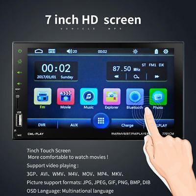 7inch HD LCD Touch Screen 2Din Bluetooth Car Auto Stereo MP5 FM Radio USB TF AUX