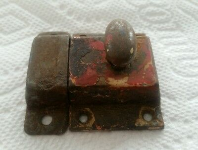 Vintage Old Painted Metal Cabinet Latch Shabby Chippy (79Hc C)