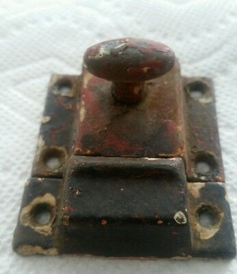 Vintage Old Painted Metal Cabinet Latch Shabby Chippy (79Hc E)