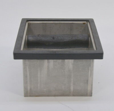 "Stainless Steel Commercial Espresso Grounds Knock Box Insert Counter 4"" Coffee"