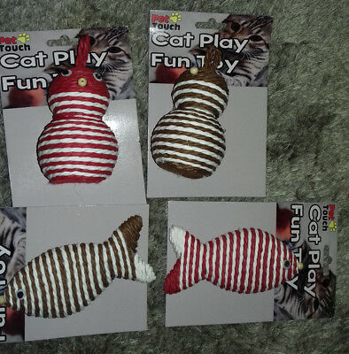 Pet Touch - Cat Play Rope Fun Toy- Various Designs & Colours
