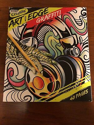 NEW Crayola Art With An Edge Series Coloring Book Graffiti 40 Perforated Pages