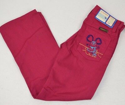 Vtg Young MAVERICK Girls Rose Denim Jeans Embroidered MOUSE Pocket 6 Slim USA